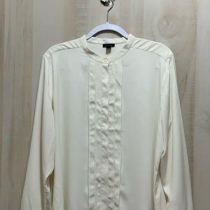 Ann Taylor Pleated Dress Shirt Size XL